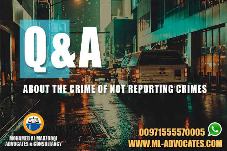 Questions and Answers About the Crime of Not Reporting Crimes