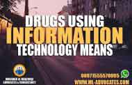 Trafficking running drugs psychotropic substances using information technology means