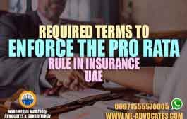Required Terms to Enforce the Pro Rata Rule in Insurance