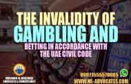 The invalidity of gambling and betting in accordance with the UAE Civil Code