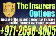 The insurers options in case of the insured danger risk increase and the temporary coverage concept