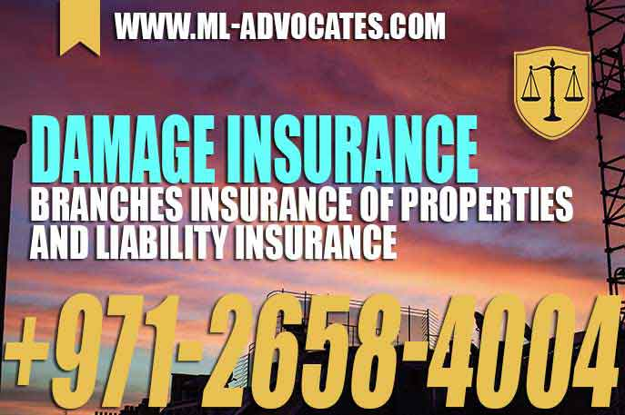 Damage Insurance Branches Insurance of properties and liability Insurance