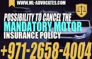 Possibility to cancel the mandatory motor insurance policy