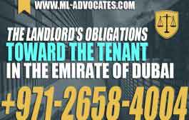 The Landlords Obligations Toward The Tenant in The Emirate Of Dubai