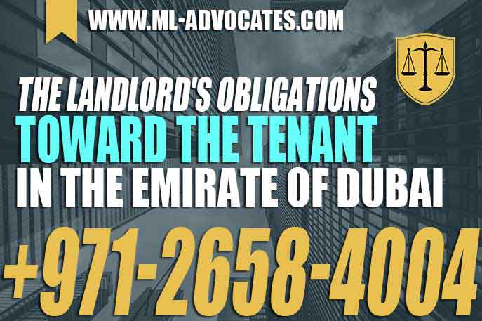 The Landlords Obligations Toward The Tenant