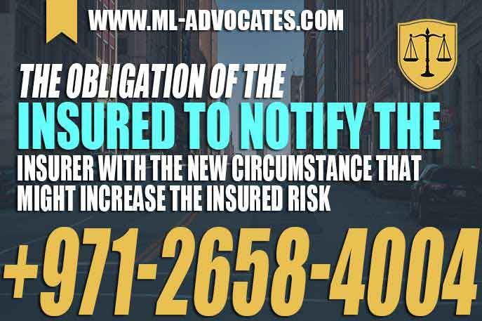obligation of the insured to notify the insurer