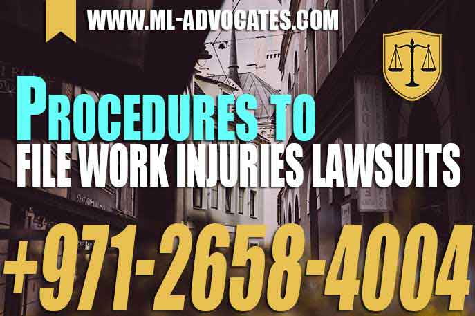 Procedures to file work injuries lawsuits – UAE Law