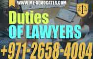 Duties of solicitor, lawyers, solicitors, legal practitioner - UAE