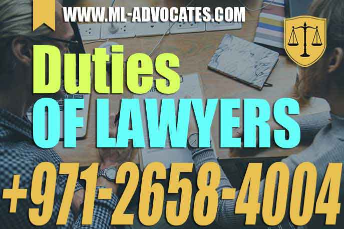 Duties of solicitor, lawyers, solicitors, legal practitioner – UAE
