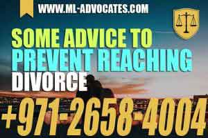 Some Advice to Prevent Reaching Divorce