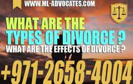 What are the types of divorce - What are the effects of divorce