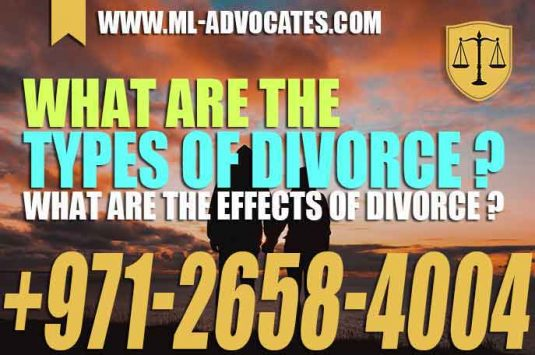 What are the types of divorce – What are the effects of divorce