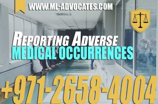 Reporting Adverse Medical Occurrences – UAE Law